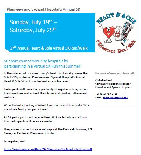 Member Event: Hospitals' Heart & Sole 5K @ Virtual Event